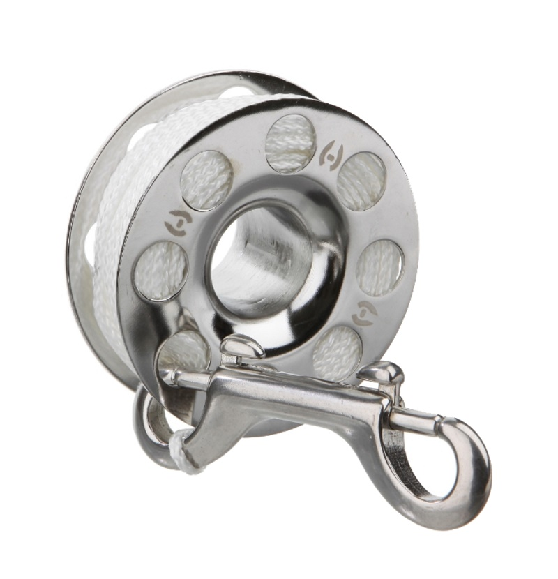 Finger-Reel 30'/10m stainless, steel