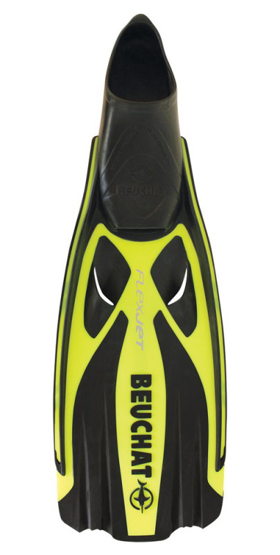 Ploutve Beuchat FLEX JET FULL FOOT Yellow